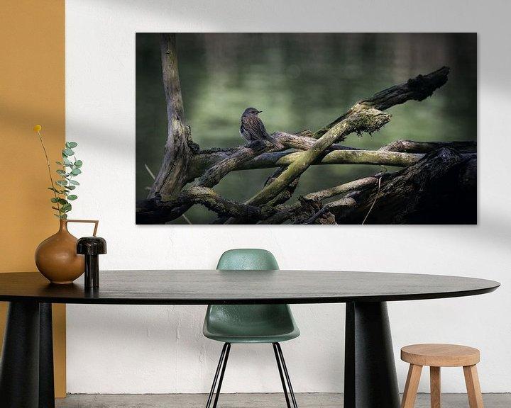 Sfeerimpressie: Vogel op tak van Margaretha Gerritsen