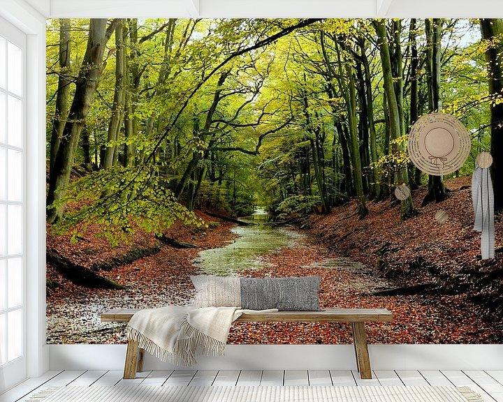 Sfeerimpressie behang: Herfst van Margaretha Gerritsen