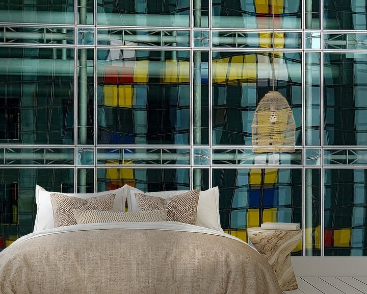 Sfeerimpressie behang: Mondriaan van Margaretha Gerritsen