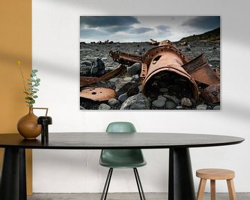 Wrakstukken op Snæfellsnes, IJsland von Marie-Christine Alsemgeest-Zuiderent