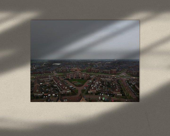 Sfeerimpressie: Barneveld vanuit de Lucht  van Wilbert Van Veldhuizen
