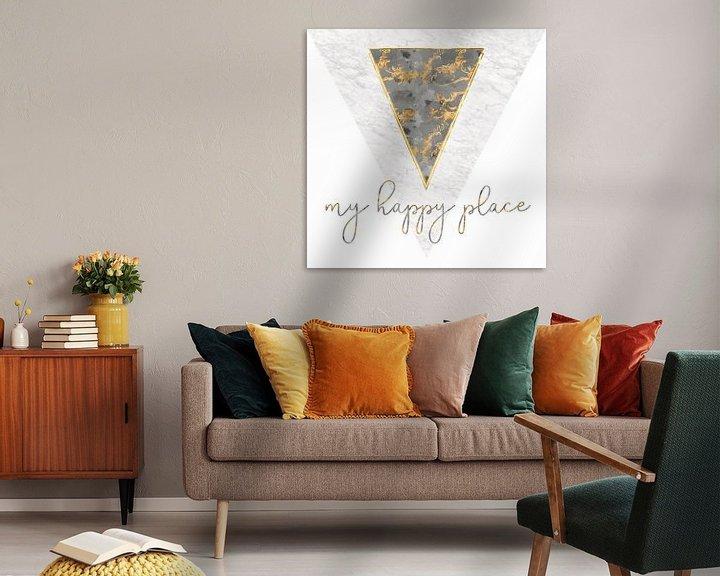 Impression: Grafikkunst MARMOR My happy place | gold sur Melanie Viola