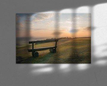 Bank im Sonnenuntergang sur Susanne Bauernfeind
