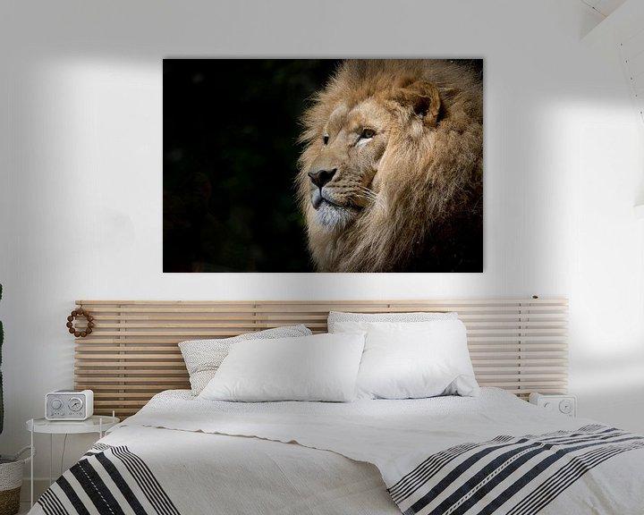 Sfeerimpressie: close-up van een leeuwenkop van Atelier Liesjes