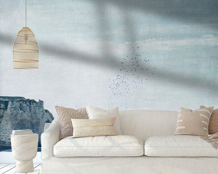 Sfeerimpressie behang: Krijtrotsen Étretat - Normandië - Frankrijk van Dirk Wüstenhagen