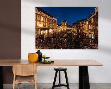 Oudegracht Utrecht in der Nacht von Daan Kloeg