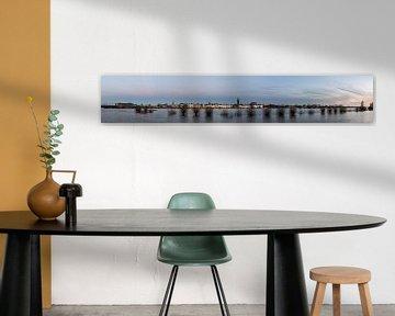 Panorama Zutphen aan de IJssel gedurende hoog water van Daan Kloeg