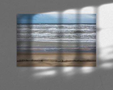 Tempête sur la mer du Nord à Zandvoort sur Daan Kloeg