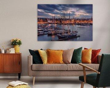 Skyline von Amsterdam von Dennisart Fotografie