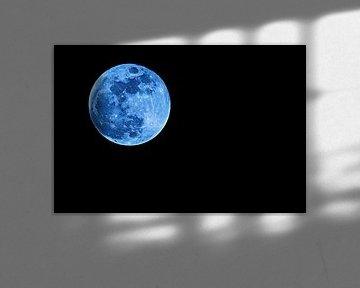 Blauwe supermaan van Art by Jeronimo