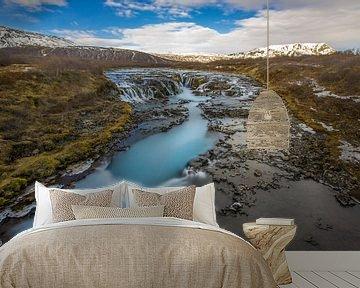 Brúarfoss, IJsland. van Koop point