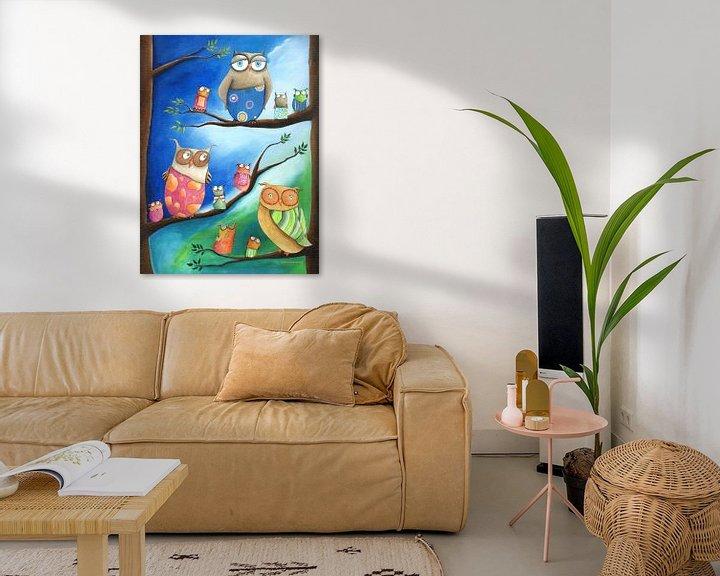 Sfeerimpressie: Uilenschool - Schilderij voor Kinderen van Atelier BuntePunkt