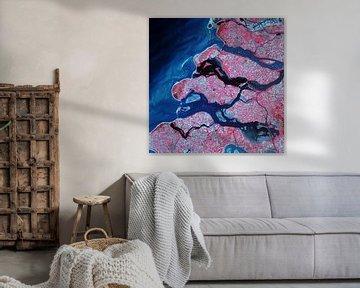 Foto van Zeeland met licht in infrarood en rood