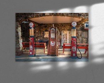 Tankstation op Route 66 van Kurt Krause