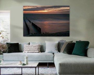 Zonsondergang op het strand van Ans Janssen
