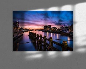 Avondrood Oude Eemskanaal sur Arline Photography