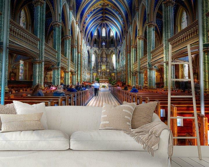 Beispiel fototapete: Kirche mit schönem farbigen Innenraum von Atelier Liesjes
