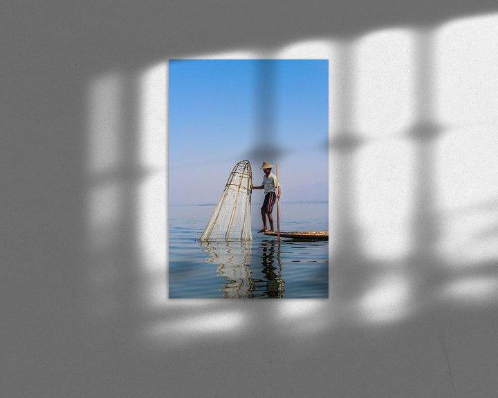 Beispiel: Birmanischer Fischer am Inle See II von Thijs van den Broek
