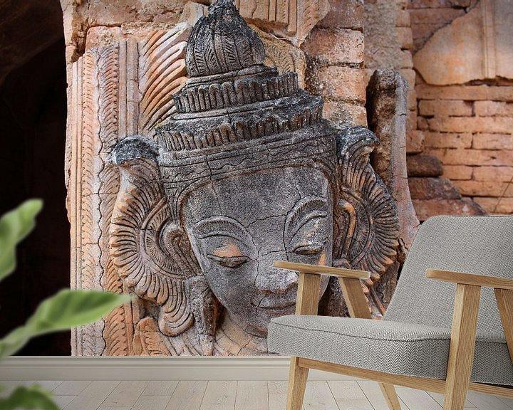 Beispiel fototapete: Alter Birmanischer Buddha von Thijs van den Broek