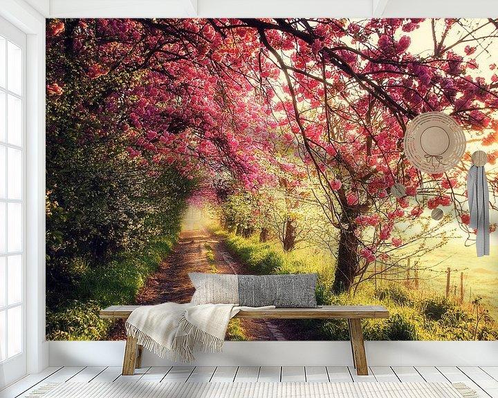 Sfeerimpressie behang: Pink morning van Bart Ceuppens