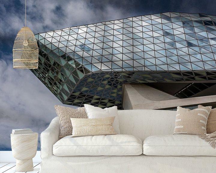Beispiel fototapete: harbor house of antwerp von Koen Ceusters