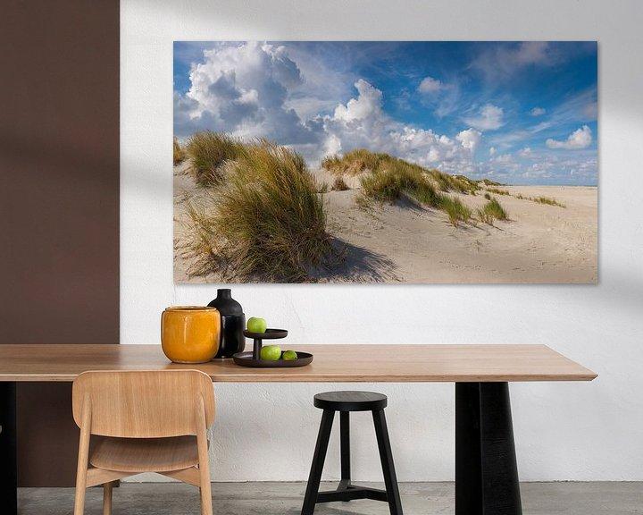 Sfeerimpressie: Strand en duinen , Oosterend Terschelling, Wadden eiland, Friesland van Rene van der Meer
