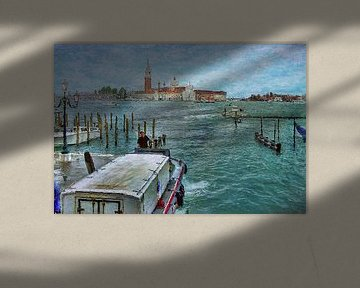 uitzicht vanaf rond San Marco naar San Giorgio Maggiore