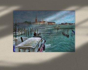 Blick von San Marco nach San Giorgio Maggiore