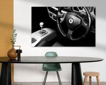 Cockpit de la Ferrari sportscar sur Atelier Liesjes