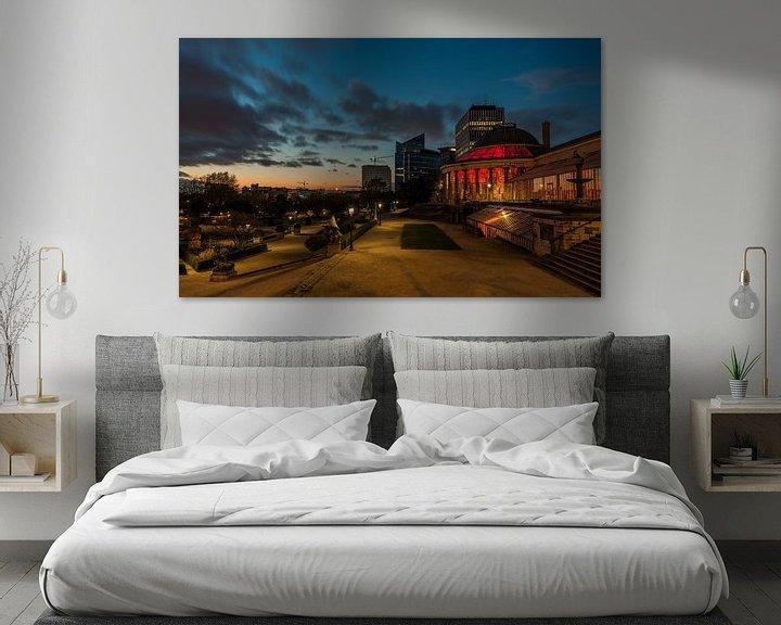 Sfeerimpressie: Zonsondergang, Kruidtuin (Brussel) van Werner Lerooy