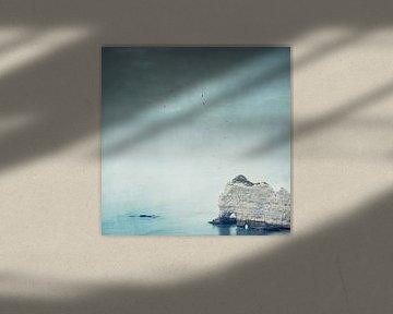 Falaise d'Amont - Albastenkust - Normandië - Frankrijk van Dirk Wüstenhagen