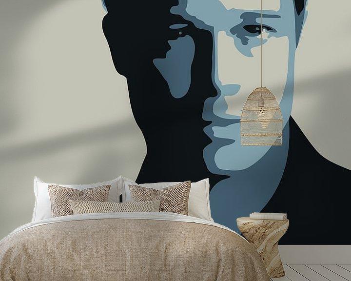 Sfeerimpressie behang: Brad Pitt van Harry Hadders