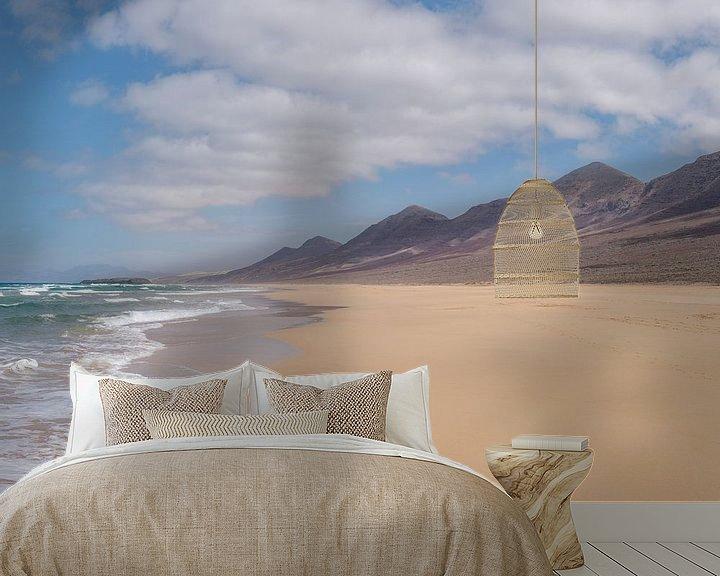 Sfeerimpressie behang: Playa de Cofete, Parque Natural de Jandia, Cofete, Fuerteventura, Canary Islands, Spanje van Rene van der Meer