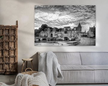 Koppelpoort historisch Amersfoort zwartwit von Watze D. de Haan