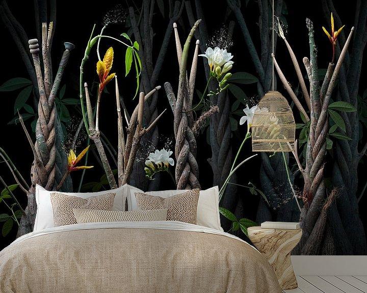 Sfeerimpressie behang: Jungle drumstick van Olaf Bruhn