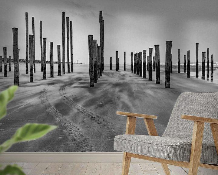 Sfeerimpressie behang: Palendorp Petten in de wind van Mirjam Boerhoop - Oudenaarden