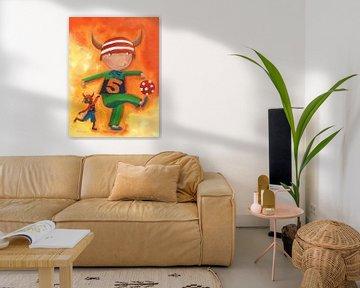 Viking - Schilderij voor Kinderen van Atelier BuntePunkt