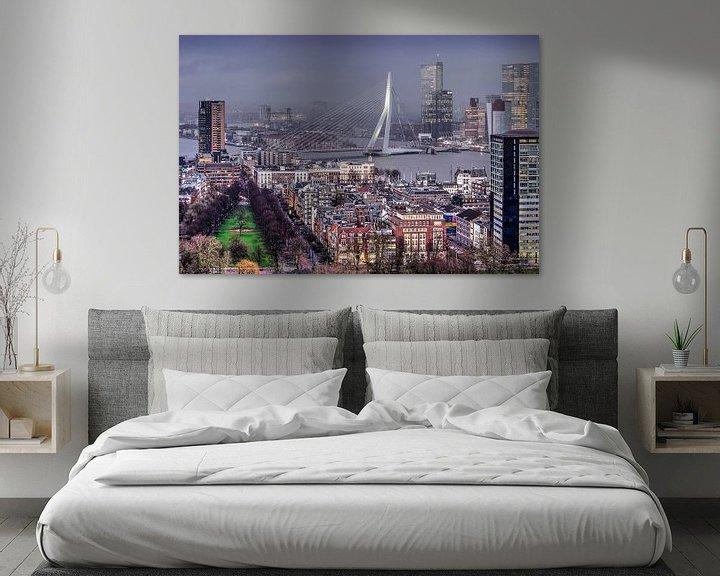 Sfeerimpressie: Scheepvaartkwartier Rotterdam van Frans Blok