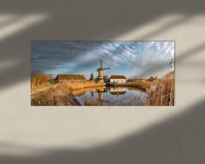 Sfeerimpressie: De gecombineerde wind- en waterradmolen, De Kilsdonkse Molen, Veghel, , Noord-Brabant, Nederland, van Rene van der Meer