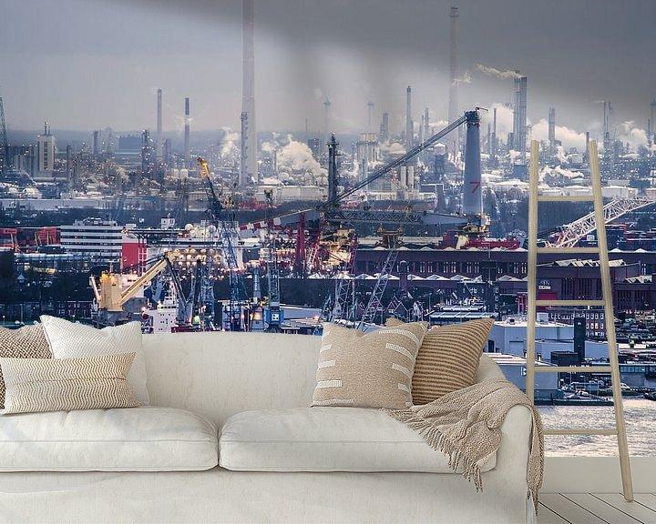 Sfeerimpressie behang: Onder de rook van Rotterdam van Frans Blok