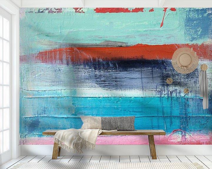 Sfeerimpressie behang: Abstract fields 1 van Atelier Paint-Ing