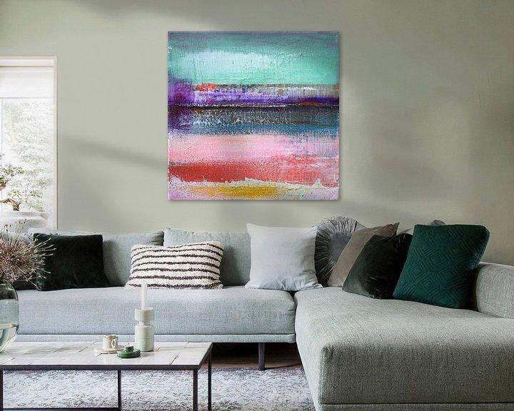Sfeerimpressie: Abstract fields 4 van Atelier Paint-Ing