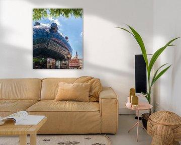 Futuristische architectuur van het Kunsthaus, Graz, Steiermark, Oostenrijk van Rene van der Meer