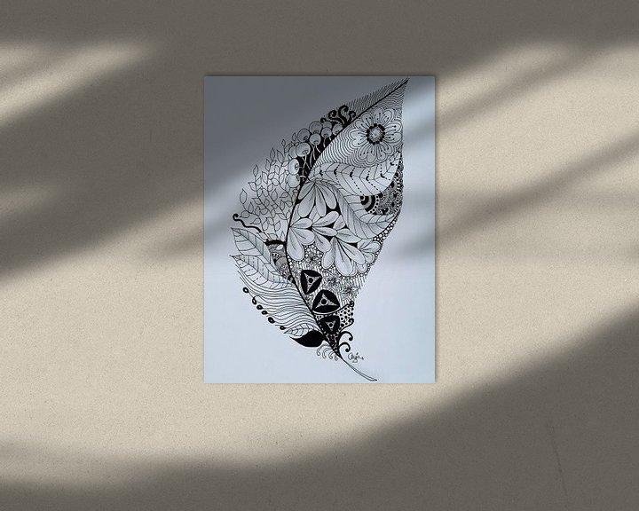 Sfeerimpressie: Zentangle Kunst Veer van Anja  Bulté