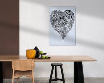 Zentangle Kunst Hart