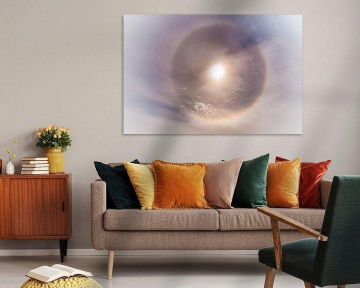 Sfeerimpressie: Noordpoolzon met een sterke halo van Gerard Wielenga
