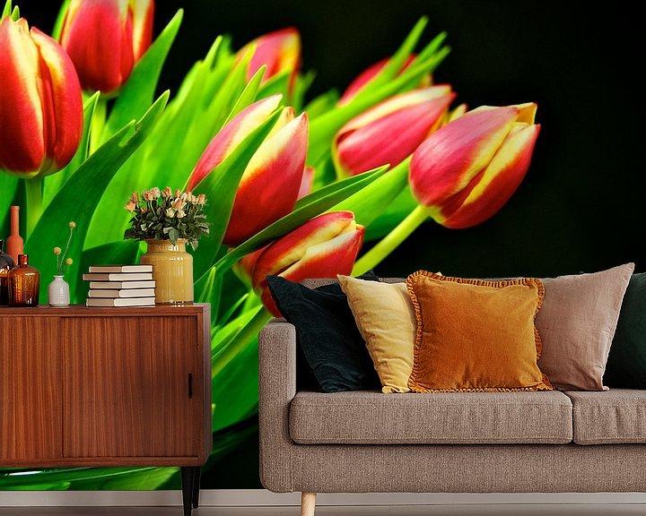 Sfeerimpressie behang: Tulpen van Dennis Beentjes