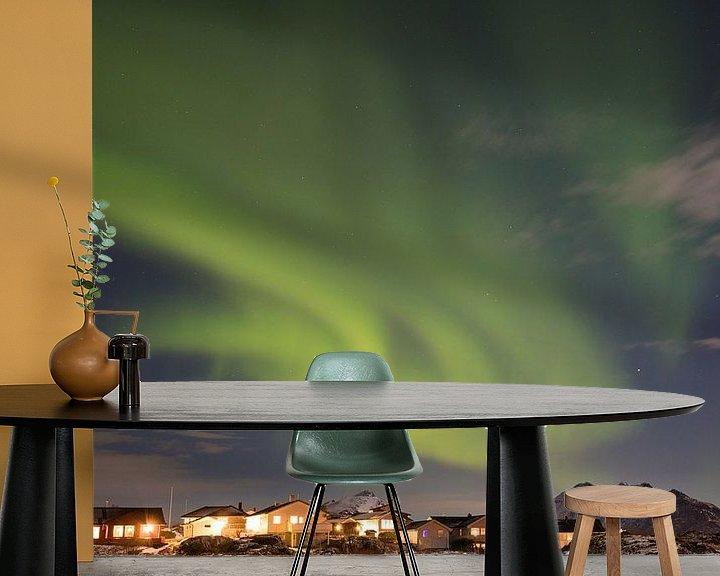 Sfeerimpressie behang: Aurora Norway van Wim van D