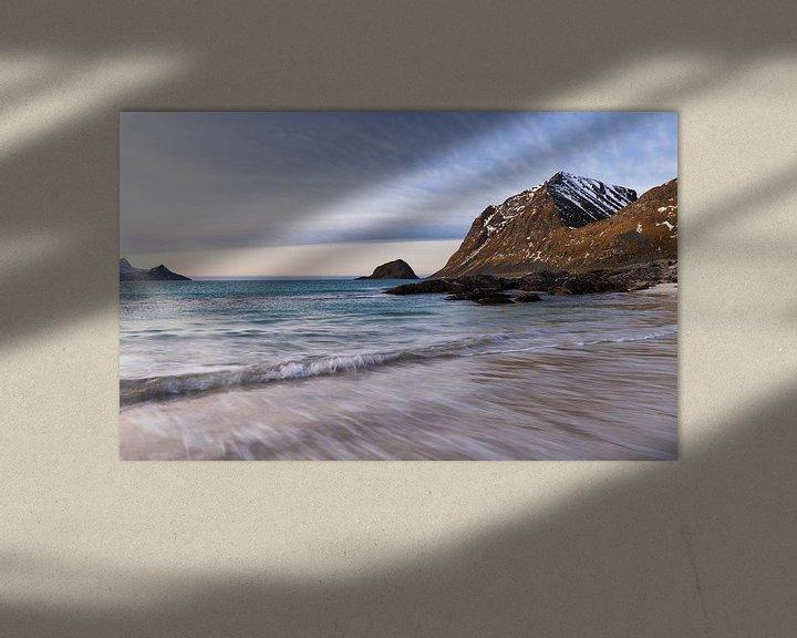 Sfeerimpressie: Haukland Beach van Wim van D