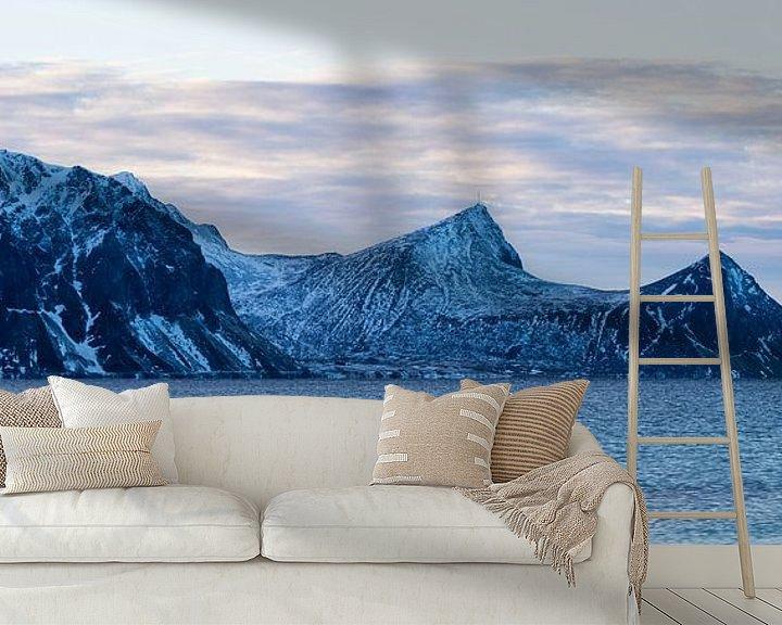 Sfeerimpressie behang: Noorwegen winter van Wim van D